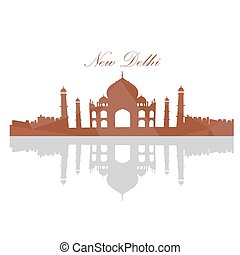 Isolated Taj Mahal landscape