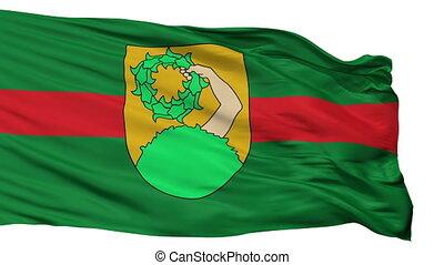 Isolated Talsi city flag, Latvia - Talsi flag, city of...