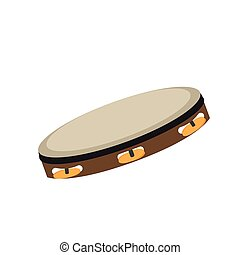 Isolated tambourine icon. Musical instrument