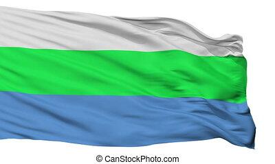 Isolated Tamsalu city flag, Estonia - Tamsalu flag, city of...