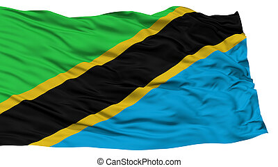 Isolated Tanzania Flag