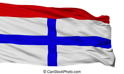 Isolated Targu Secuiesc city flag, Romania - Targu Secuiesc...