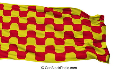 Isolated Tarragona city flag, Spain - Tarragona flag, city...