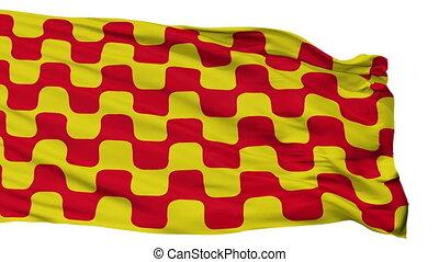 Isolated Tarragona city flag, Spain - Tarragona flag, city...
