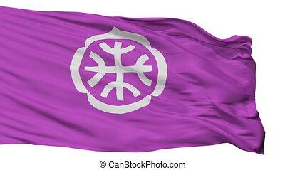 Isolated Tatebayashi city flag, prefecture Gunma, Japan -...