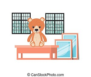 Isolated teddy bear design vector illustration