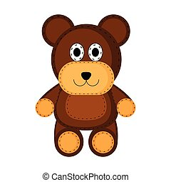 Isolated teddy bear toy icon