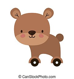 Isolated teddy bear toy vector design