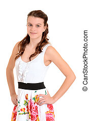 Teen girl with hands on hips
