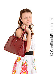 Teen girl with purse