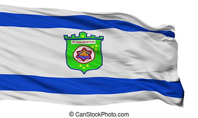 Isolated Tel Aviv city flag, Israel - Tel Aviv flag, city of...