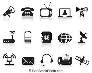 isolated telecommunication icons set from white background