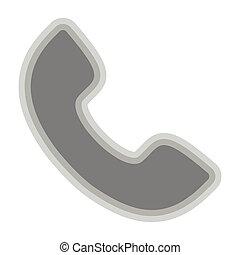 Isolated telephone symbol on white background