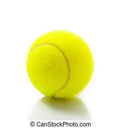 isolated tennis ball in white background