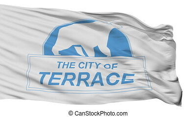 Isolated Terrace city flag, Canada - Terrace flag, city of...