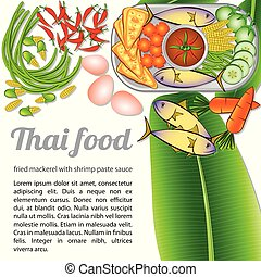 Isolated Thai Food Menu Fried Mackerel2