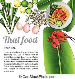 Isolated Thai Food Menu Phad Thai