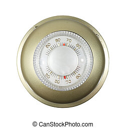 isolated thermostat - analog thermostat set to 66 degrees...
