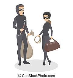 Isolated thief couple.