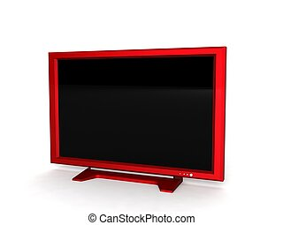 lcd television - isolated three dimensional lcd television