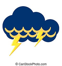 Isolated thunderstorm weather icon
