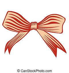 Isolated tied ribbon