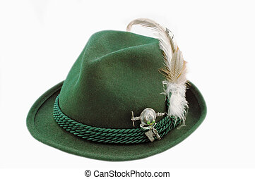 Isolated tirol hat