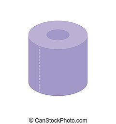 Isolated toilet paper icon flat design
