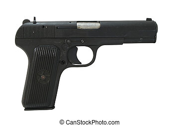 Isolated Tokarev 7.62mm Pistol - This is a Tokarev 7.62mm...
