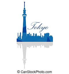 Isolated Tokyo Skyline