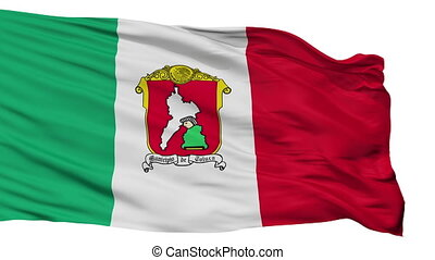 Isolated Toluca city flag, Mexico