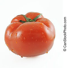 Isolated tomato on white
