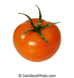Isolated Tomato - One isolated tomato