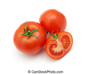 Isolated tomatoes. Element of design.