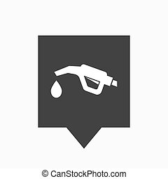 Isolated tooltip with a gas hose icon