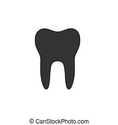 Isolated tooth flat icon on a white background