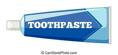 Isolated toothpaste on white background