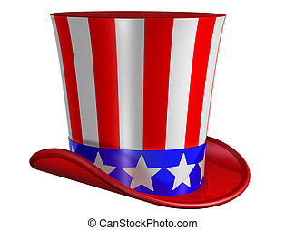 Isolated Top Hat for Uncle Sam - Splendid top hat for Uncle...