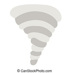 Isolated tornado weather icon