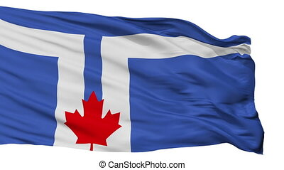 Isolated Toronto city flag, Canada - Toronto flag, city of...
