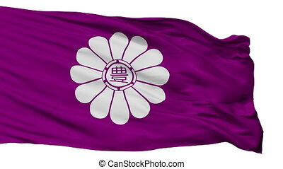 Isolated Toshima city flag, prefecture Tokyo, Japan -...