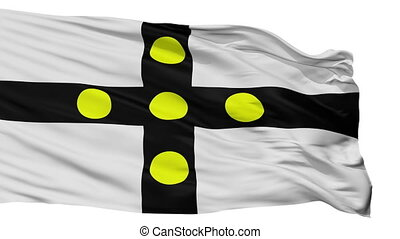 Isolated Tourcoing city flag, France - Tourcoing flag, city...