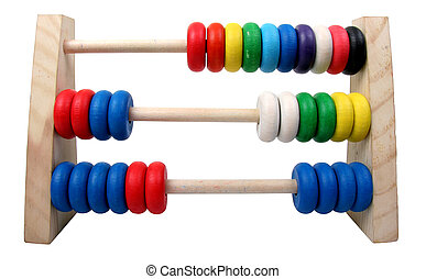 isolated toy abacus - isolated toy coloures wooden abacus...