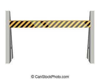 Isolated traffic barricade - Traffic barricade on a white...