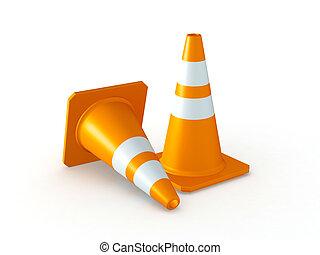 Isolated Traffic Cones