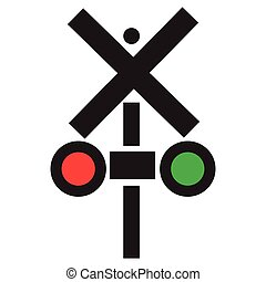 Isolated traffic light icon