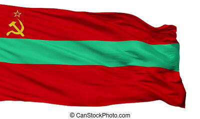 Isolated Transnistria state flag