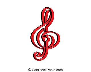 Isolated treble clef icon