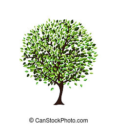 Isolated tree for your design
