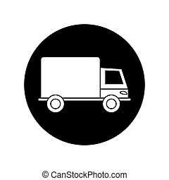 Isolated truck silhouette design - Truck silhouette icon....